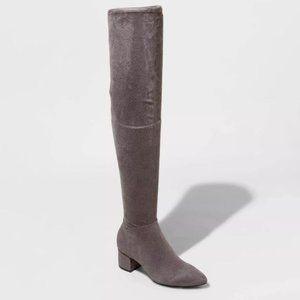 Naviah Wide Calf Heeled Over the Knee Boot 9